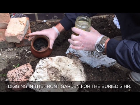 BLACK MAGIC (SIHR سحر) BURRIED, DIGGED FROM A FAMILY HOME. thumbnail