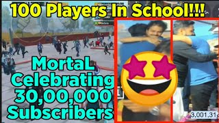 😍MortaL 3 Million Subscribers Special Meetup At School | MortaL 3M Special Party | Mamba, 8bitThug