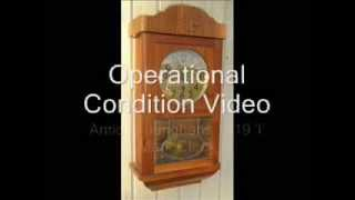 Antique Junghans 1919 Large Wall Clock Working Condition Video