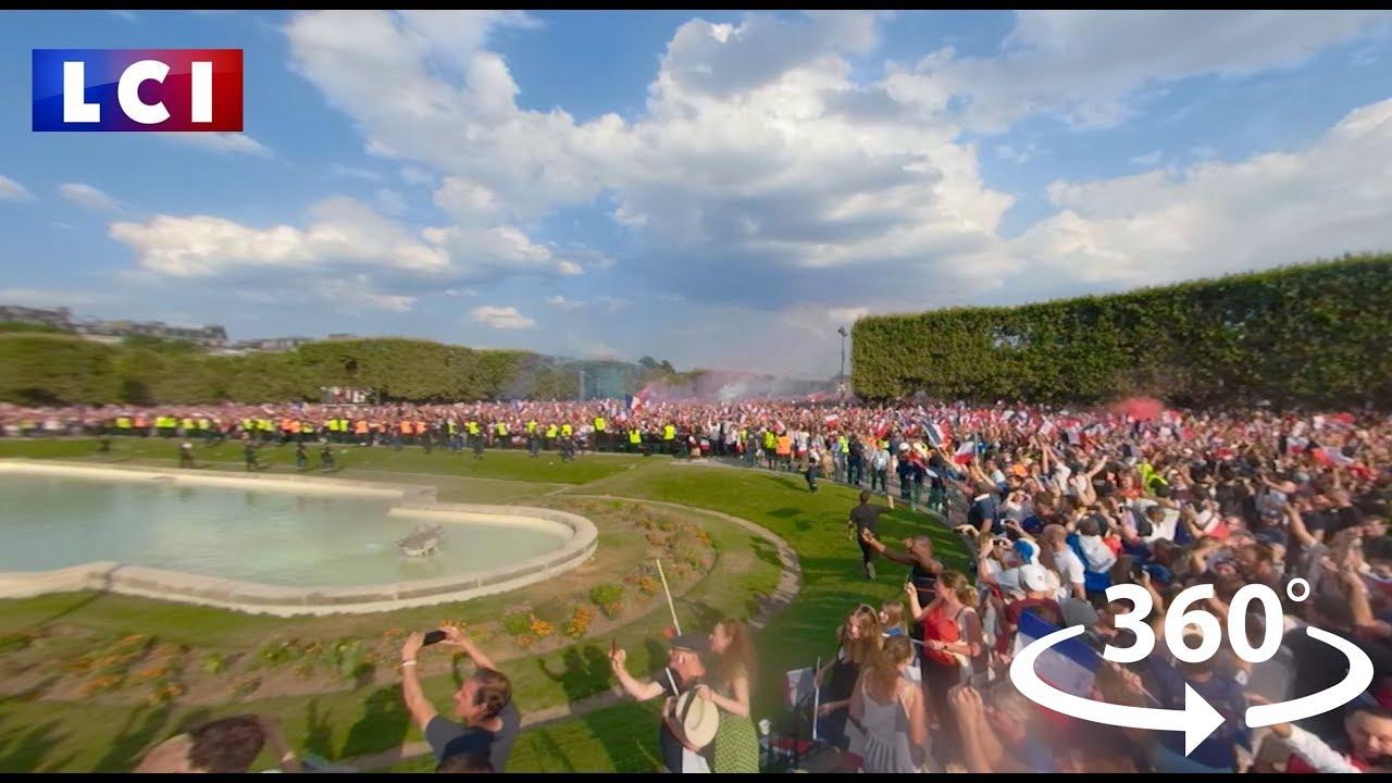 VIDEO 360 Revivez la finale France-Croatie comme si vous étiez au Champ de Mars HD