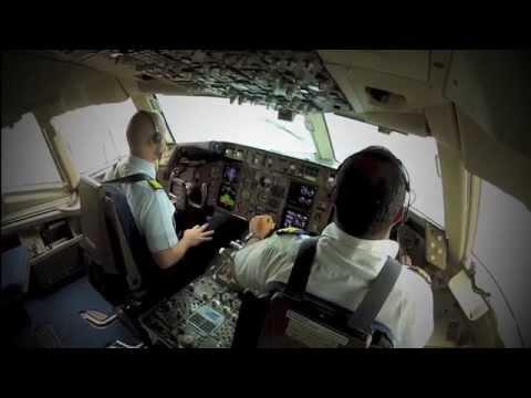 HD 720 (Go Pro) B767 Landing in Abidjan
