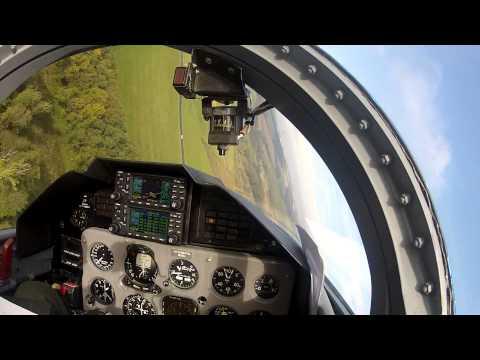 L-39 Albatros cockpit view low pass, acrobatics, landing