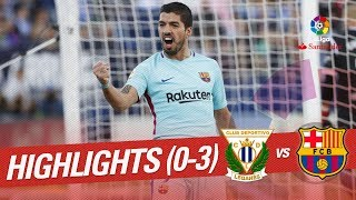 Resumen de CD Leganés vs FC Barcelona (0-3)