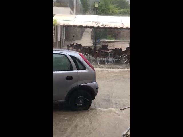 Nubifragio Rofrano 20 agosto 2018 - 1 scale borgo San Vito