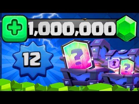 Clash Royale ENORME OUVERTURE DE  SUPER COFFRES MAGIQUES 7500€ ! 1'000'000 de Gemmes ! LEVEL 12