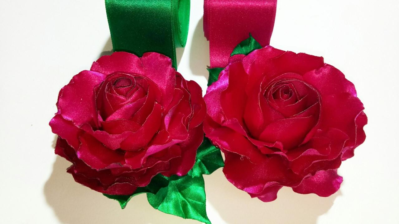 Diy fabric flower 2 dark pink rose blossom youtube diy fabric flower 2 dark pink rose blossom mightylinksfo