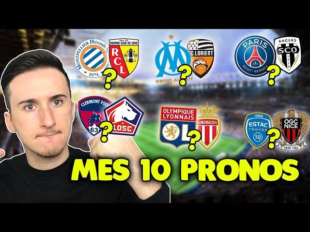Pronostic foot LIGUE 1 : Mes 10 pronostics (Ligue 1) *épisode 10*