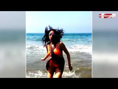 FIR actress Kavita Kaushik looks HOT running on beach in a BIKINI
