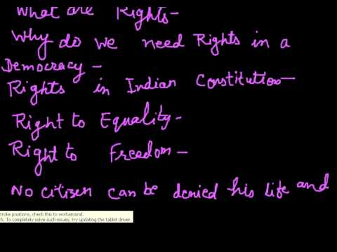 Democratic Rights - Introduction - SST, Class 9 Class 9