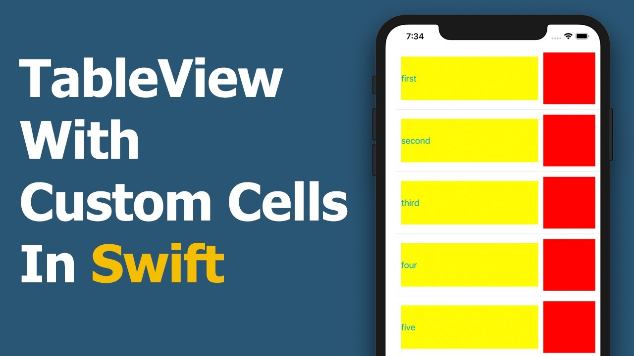 TableView With Custom Cells In Swift - Tutorial
