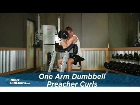 One Arm Dumbbell Preacher Curls - Biceps Exercise - Bodybuilding.com