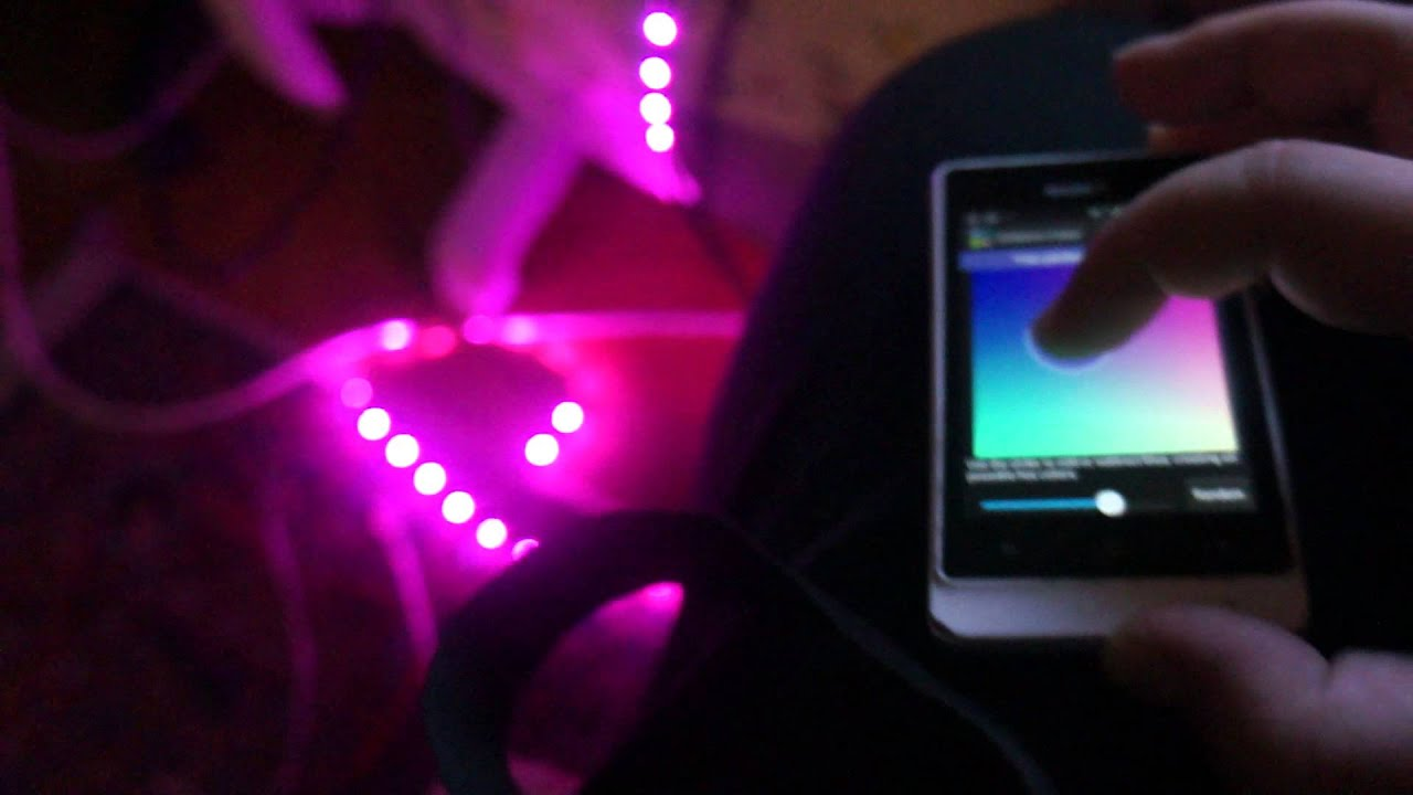 Arduino Bluetooth controlled RGB LED Strip by Android