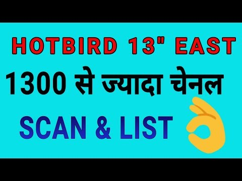 Hotbird 13East channels list and scanning - YouTube
