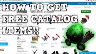 HOW TO GET FREE ITEMS ON ROBLOX 2017!! | FREE DOMINUS