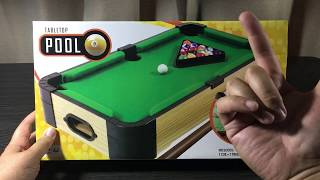 """""""fun Novelty Size!"""" Kmart Tabletop Pool Table Set - Nz Toy Reviews"""