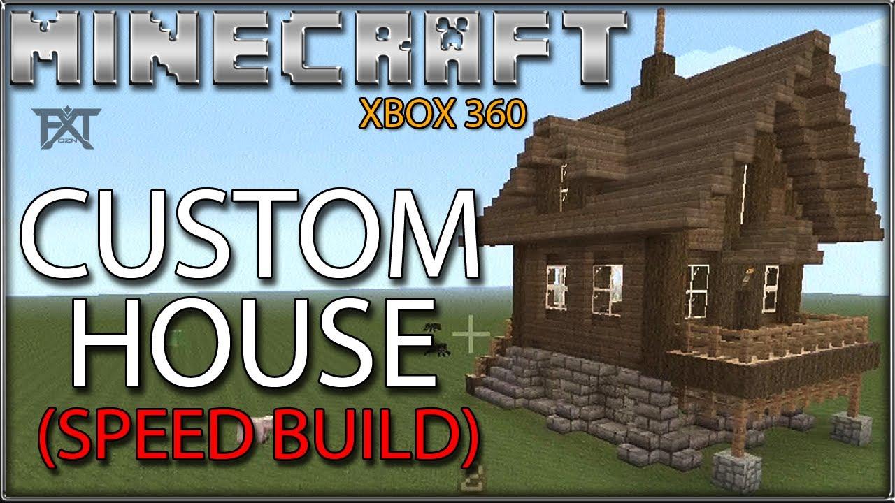 Minecraft Xbox 360 Custom House Speed Build Youtube
