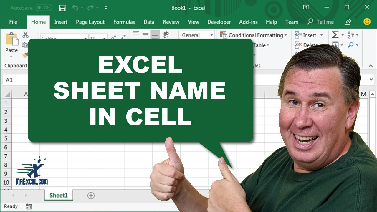 Learn Excel Worksheet Name in Cell Podcast 1982 YouTube – Excel Worksheet Name