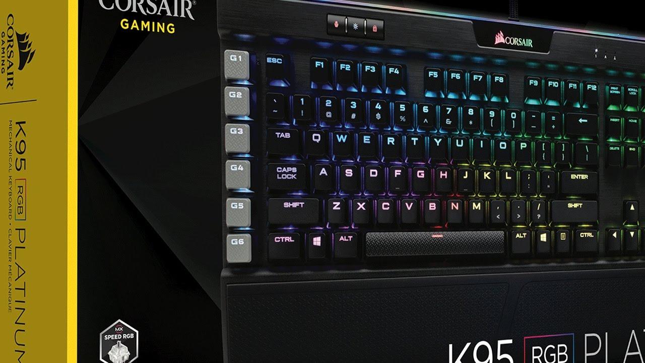 Cherry MX Speed Corsair Gaming K95 RGB PLATINUM Mechanical Keyboard Black