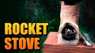 Como fazer um fogão com barro, açucar e palha - Rocket Stove