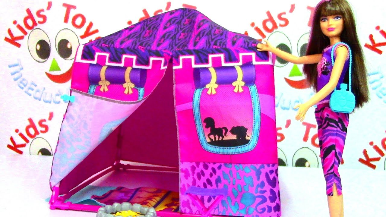 sc 1 st  YouTube & Barbie Sisters Safari Tent Barbie Life in the Dreamhouse - YouTube