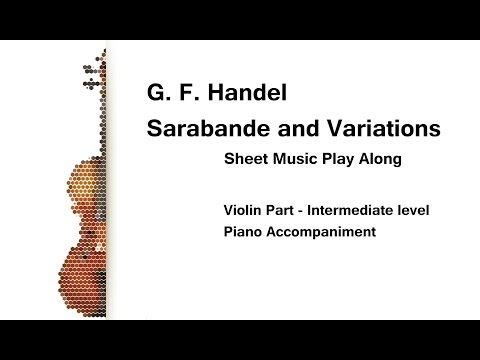 Handel Sarabande and Variations Play Along for Intermediate Violin with Piano Accompaniment