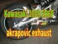Kawasaki 2009 ER6F akrapovic exhaust