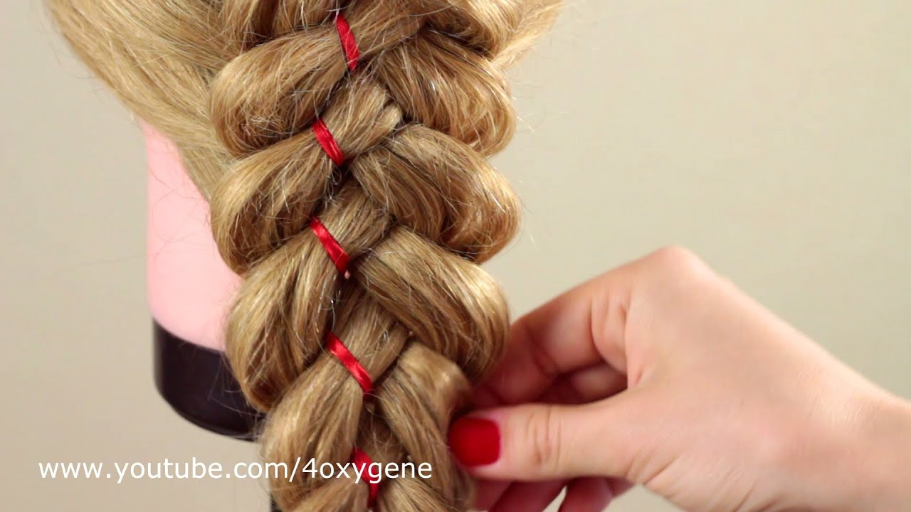 плести косу из 6 прядей схема плетения