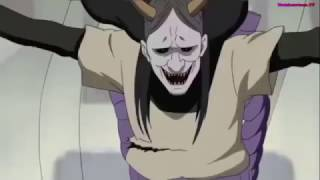 Orochimaru revives the first 4 Hokage. English Dub