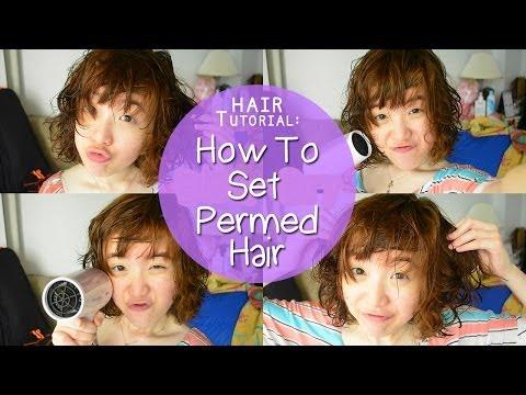 (ENGSUB) เซ็ตผมสั้นหลังดัด // How To Set Short Permed Hair | melonyzz