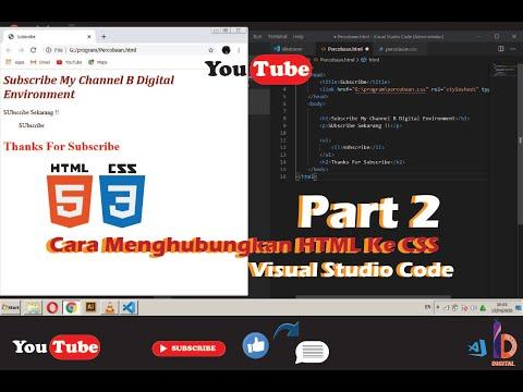 Cara Menghubungkan Html Ke Css With Visual Studio Code