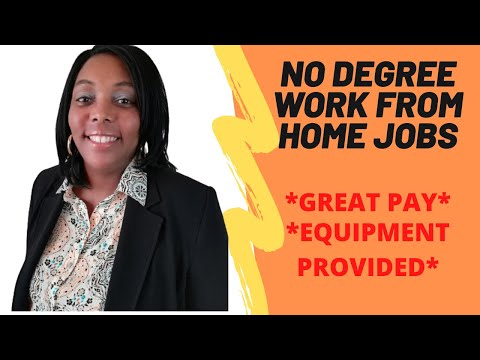 No Degree Work From Home Jobs|Legitimate Work From Home Jobs Hiring Now