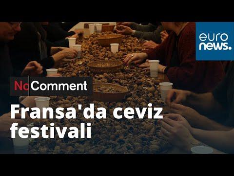 Fransa'nın Vatilieu köyünde ceviz festivali
