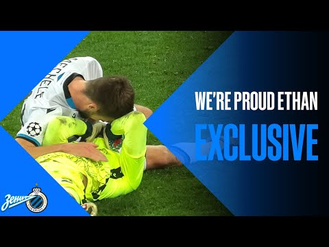 [Club Brugge] Ethan Horvath in tears after the victory against Zenit in the CL yesterday. It has been one year since he played, and since December he has seen any of his family members because of the COVID crisis.