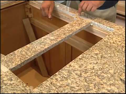 Installing A Granite Countertop And Kitchen Cabinets Youtube