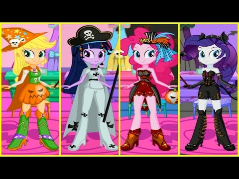 MLP My Little Pony Equestria Girls Twilight Sparkle PinkiePie & AppleJack HALLOWEEN 2016 Compilation