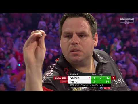 WHAT AN UPSET!!! WHAT A MATCH!!! Munch vs A.Lewis. World Darts Championship. Set 3+4