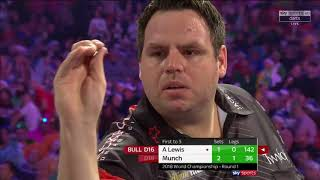 WHAT AN UPSET!!! WHAT A MATCH!!! Munch vs A.Lewis. World Darts Championship. Set 3+4
