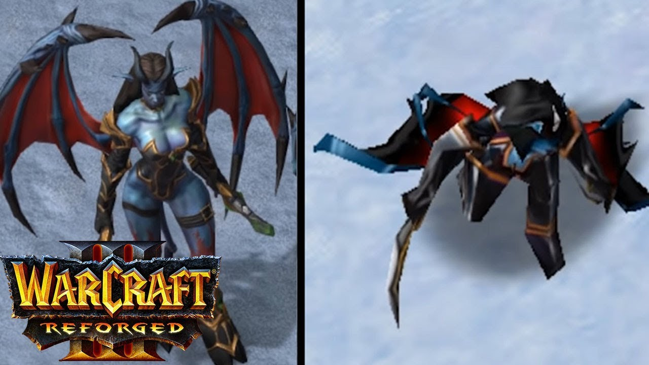 Warcraft 3 Reforged Demon Units Old vs New COMPARISON REACTION VIDEO