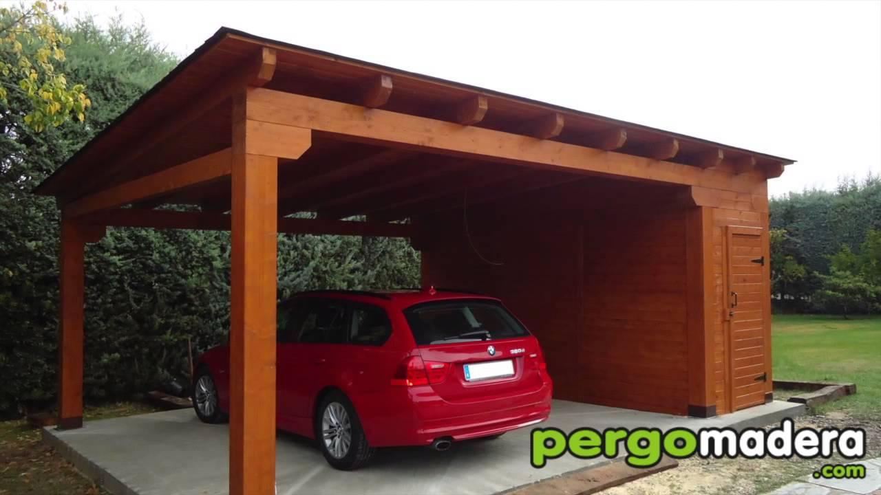 Garajes de madera pergomadera 2015 youtube - Garajes para coches ...