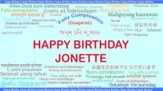 Jonette   Languages Idiomas - Happy Birthday