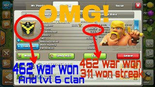 CLASH OF CLANS HIGHEST WAR WON STREAK RECORD|| NEVER LOOSE A CLAN WAR|| COC||