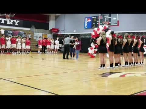 2018-19 Varsity Basketball Senior night- Middleburg High School