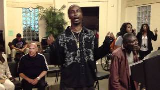 Skid Row Homeless Karaoke Charity Event Finale Song.MOV