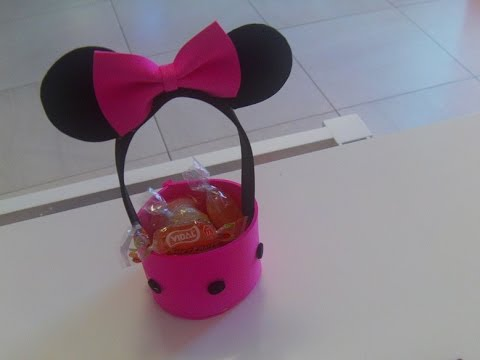 Dulcero de minnie mouse super facil youtube - Manualidades infantiles fieltro ...