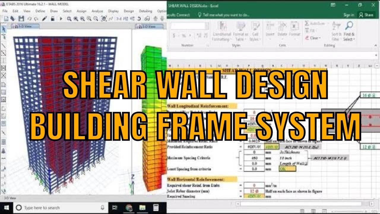 Rcc Shear Wall Design And Detailing Using Etabs Tutorial Youtube