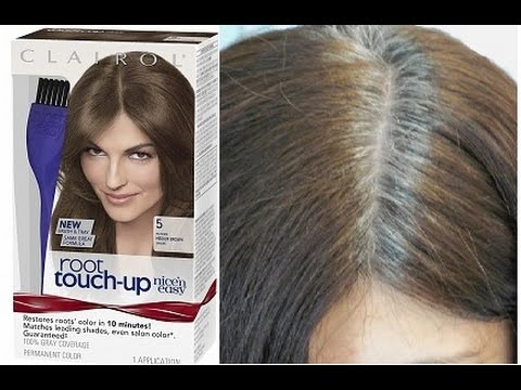 Clairol Nice & Easy Grey Root Touch Up! - YouTube
