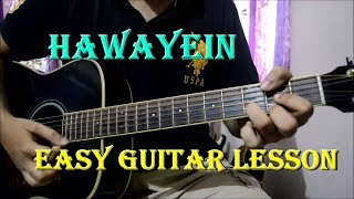 Hawayein - Easy Guitar Chords & Strumming Lesson | Arijit, SRK, Anushka | Jab Harry Met Sejal