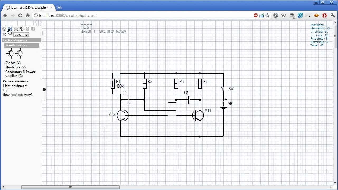 Circuit diagram online creator Prototype  YouTube
