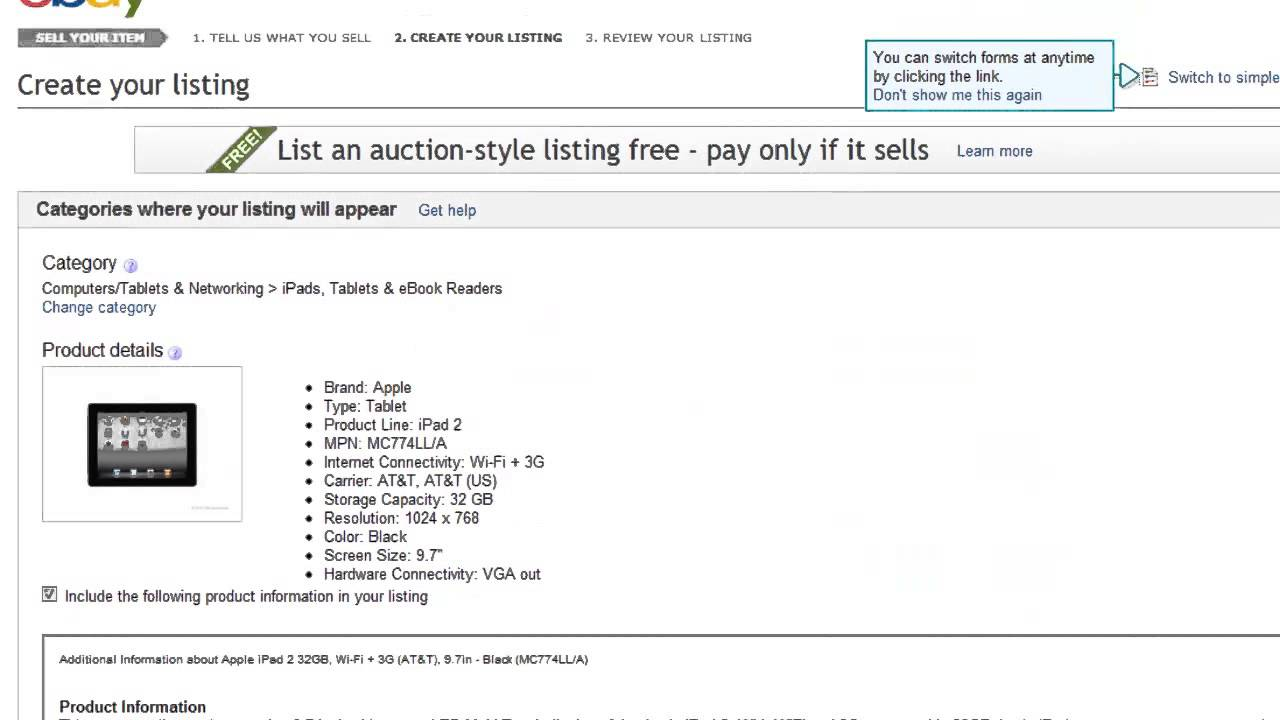 How to Create eBay Private Auction - YouTube