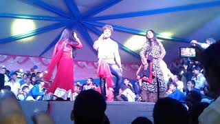 khesari lal yadv ,shubhi sarma and kajal raghwani stage show
